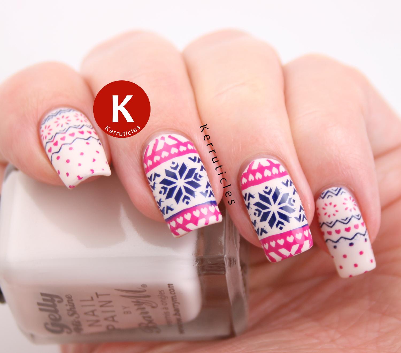 Fairisle Christmas Jumper Nails | Kerruticles