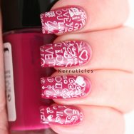 "Pink ""I Love You"" Nails"