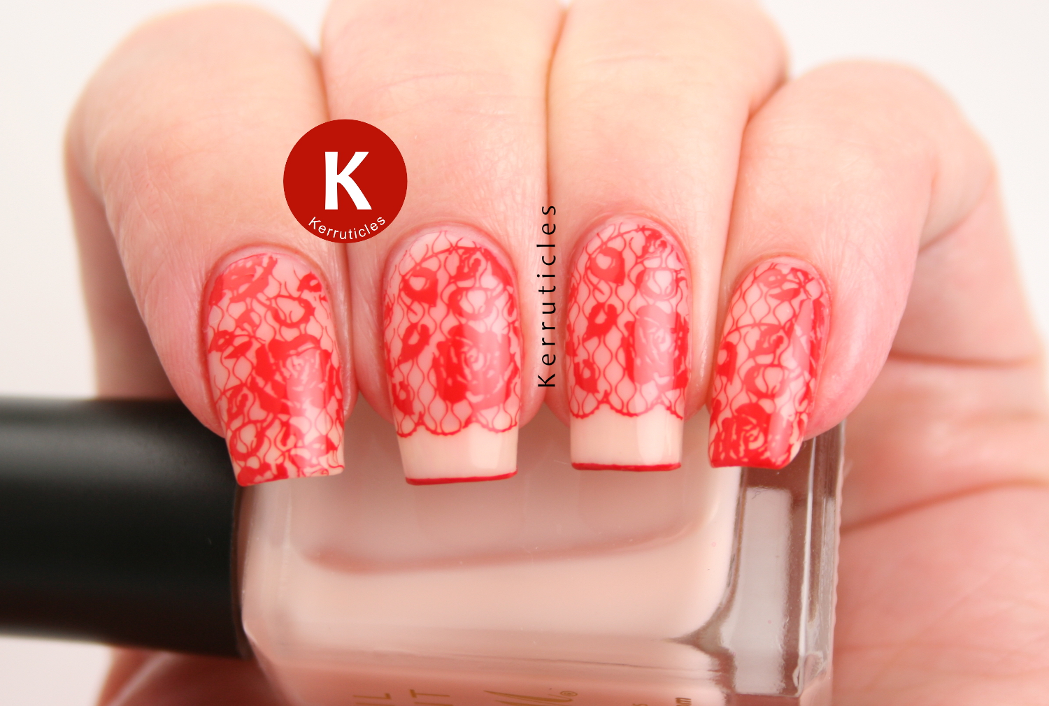 Red Lace Nails | Fashion | 40 Great Nail Art Ideas | Kerruticles
