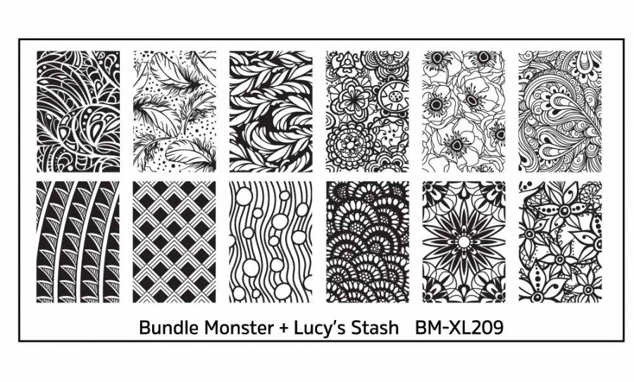 Bundle Monster BM-XL209 Lucy's Stash plate