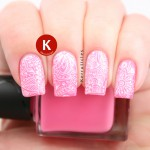 Pink with white floral stamping