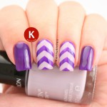 Purple and lilac chevrons