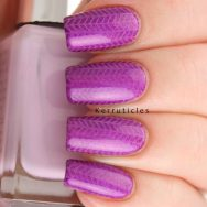 Violet tweed using Cupcake Polish Berry Good Looking