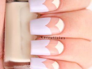 Pastel and negative space curved chevrons