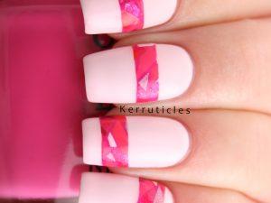 Pink mosaic stripes