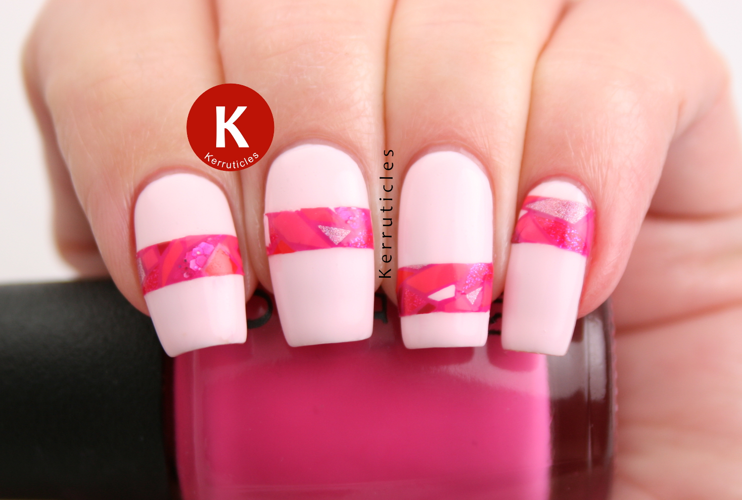 Pink mosaic stripes