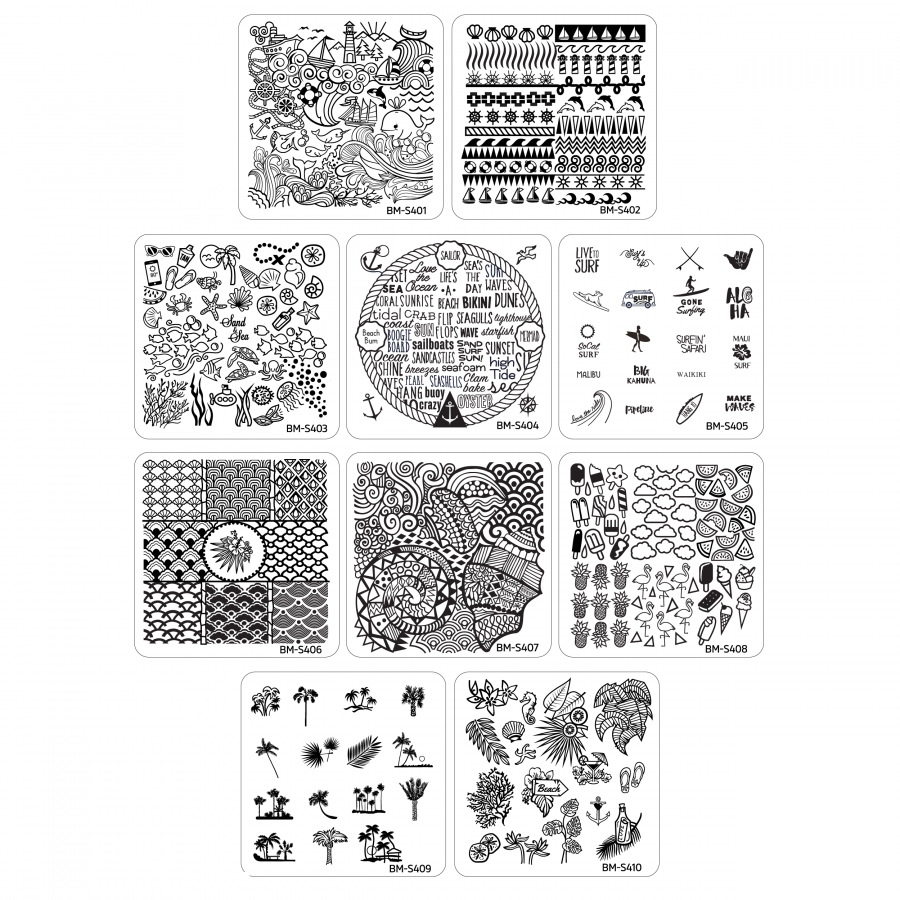 Bundle Monster Hangloose collection of stamping plates