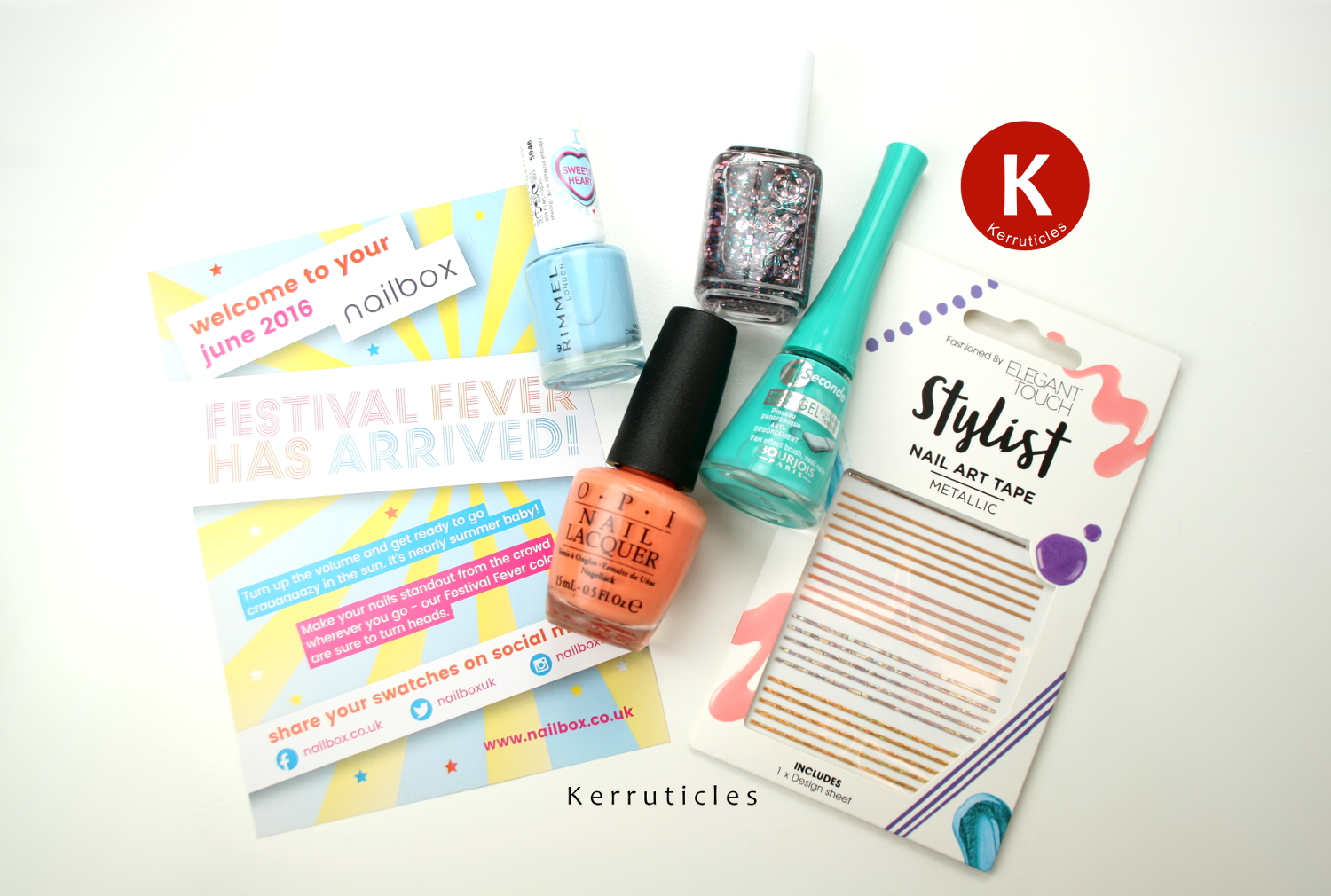 June 2016 Nailbox: Festival Fever