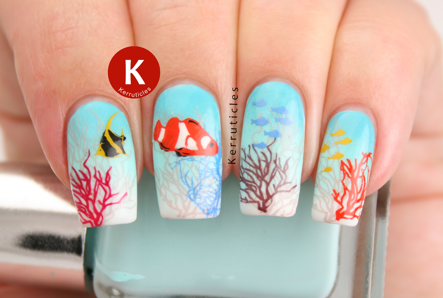 Coral reef nails