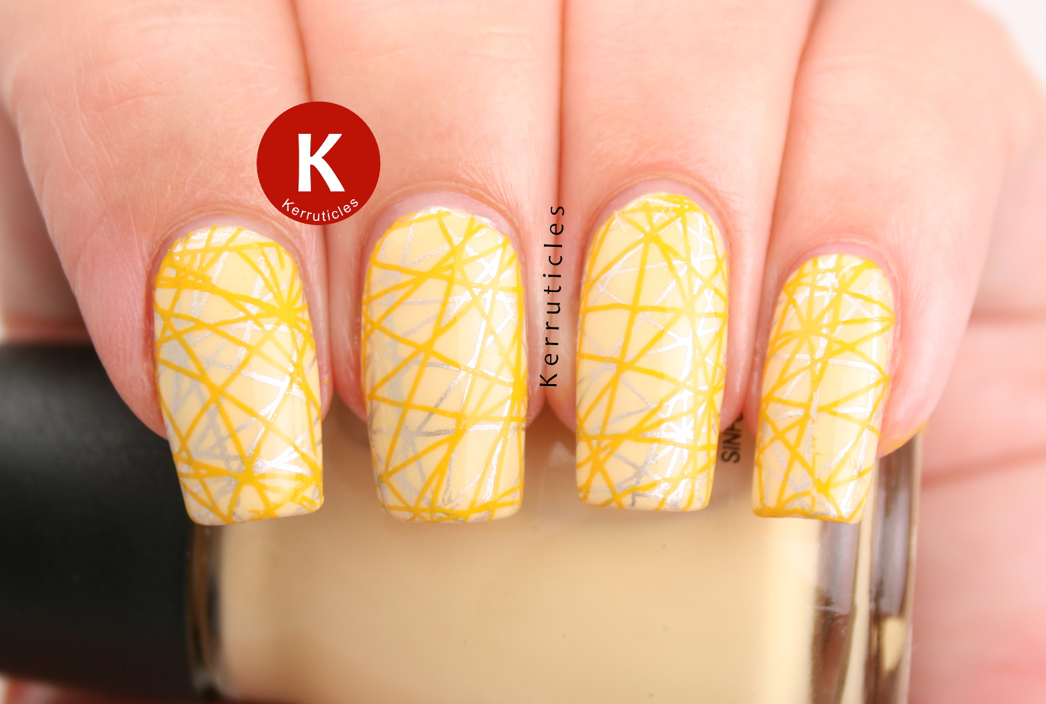Yellow and silver double stamping