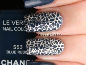 Chanel Rebel Blue with All That Jazz silver filigrees