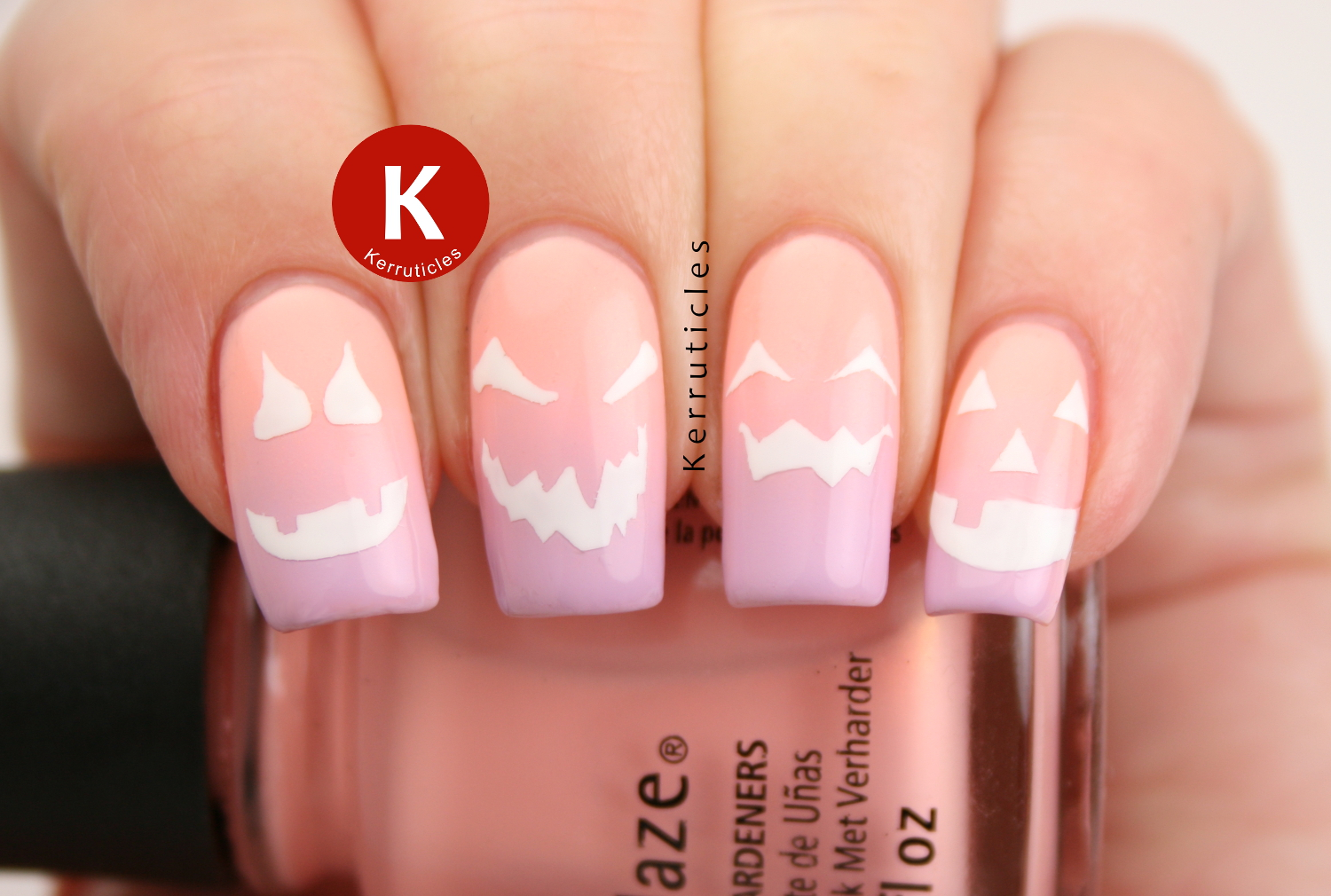 26 great nail art ideas archives kerruticles pastel halloween pumpkin faces for halloween in the wrong colours prinsesfo Choice Image