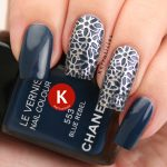 Chanel Rebel Blue with silver filigrees
