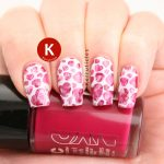 Dry brush pink hearts