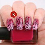 Gradient pink zebra