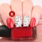 Morse code nails