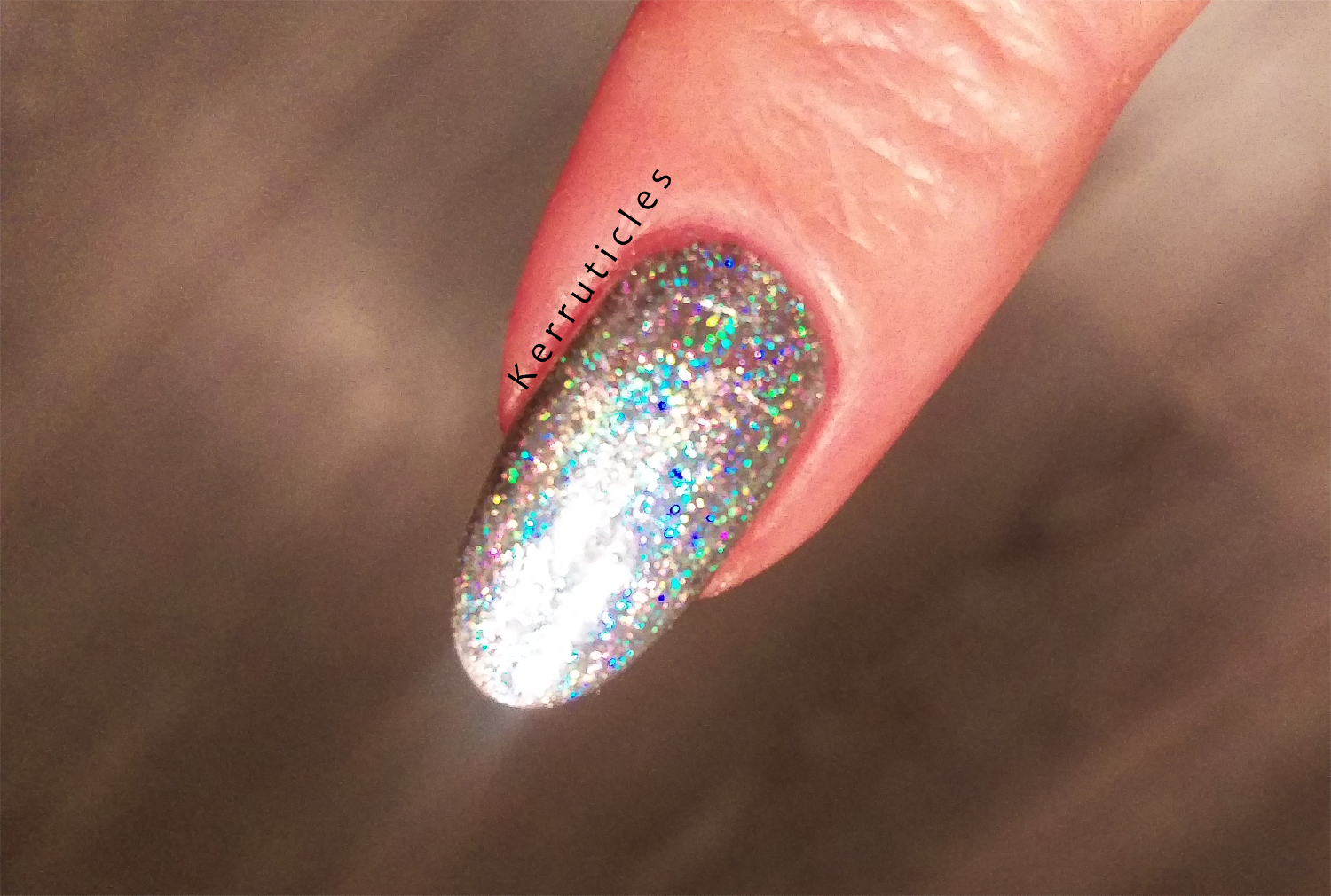 Charlies Nail Art silver holographic foil