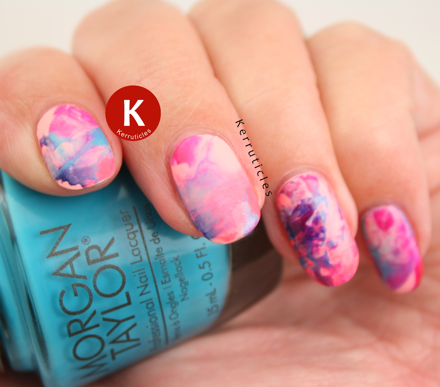 Neon brights stamping marble smoosh