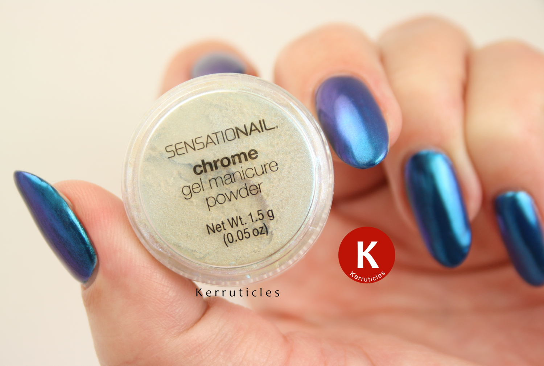 Sensationail blue chrome powder