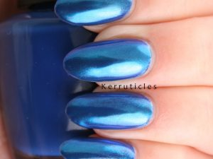 Sensationail blue chrome powder nails