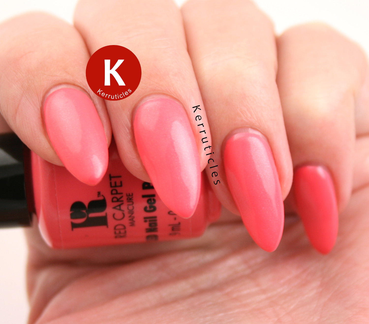 Red Carpet Manicure Floral In Coral